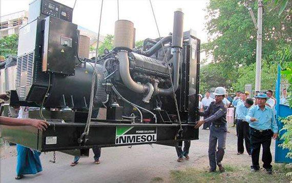 Des groupes électrogènes Inmesol renforcent le réseau électrique de Birmanie/Myanmar