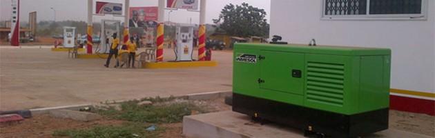 Nos groupes de secours, dans les stations-services du Ghana