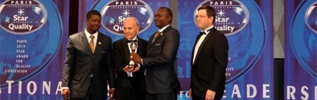 Notre distributeur au Burkina Faso reçoit le prestigieux prix international Star for Leadership in Quality