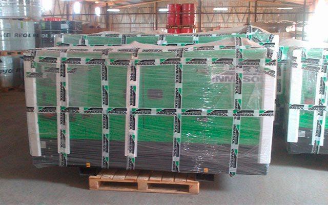 Groupes électrogènes Inmesol en stock dans les installations de NGRC à Luanda (Angola)