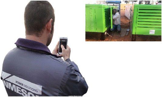 connexion entre l'unité de commande de l'appareil et le dispositif matériel