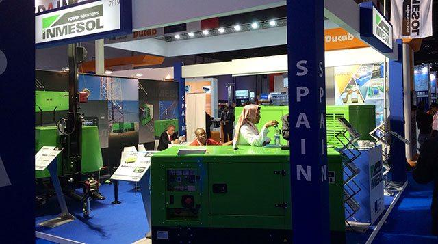 Le stand d'Inmesol de l'édition du Middle East Electricity de l'an dernier.