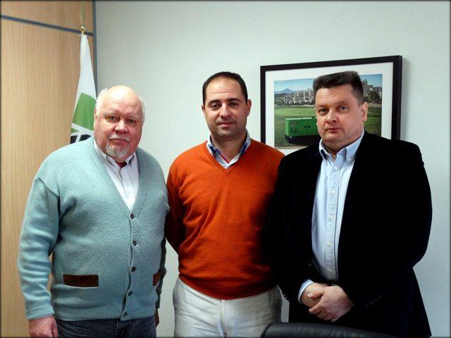 De gauche à droite: Hakan Ericsson; José Luis Solano Pasto; et Jari Korpela