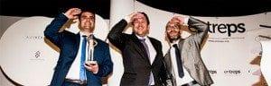 Ramón Solano, directeur commercial d'Inmesol, reçoit le prix Entreps Energie 2015