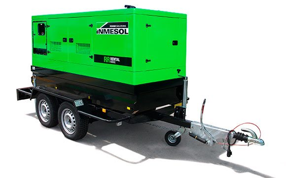 Groupe électrogène de la gamme Rental sur une remorque (kit mobile) à grande vitesse
