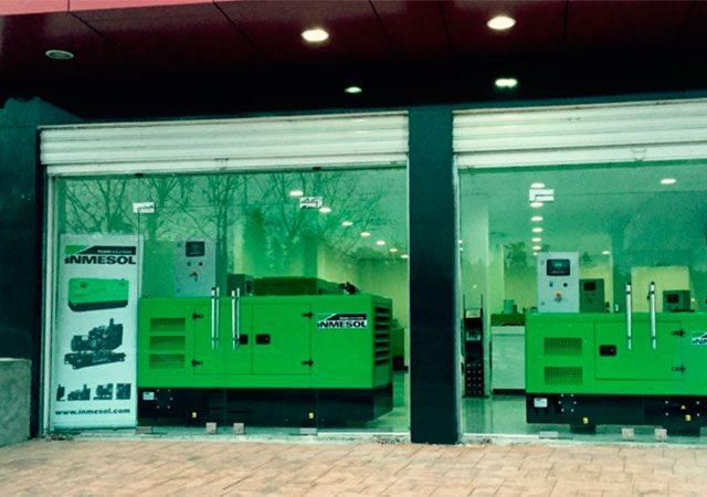 Groupes électrogènes Inmesol en vitrine des nouvelles installations de notre distributeur