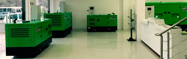 Groupes électrogènes Inmesol exposés dans les nouvelles installations de Sarl Obi