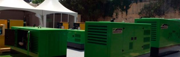 Plusieurs groupes électrogènes Inmesol exposés à la FIA