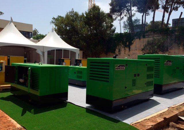 Groupes électrogènes Inmesol de la gamme de secours exposés à la FIA