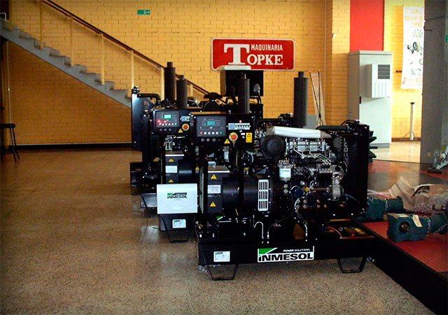 Plusieurs groupes électrogènes Inmesol se trouvent dans le stock de Machinerie TOPKE