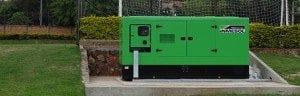 """Groupe électrogène INMESOL mod. II-440 installé dans l'enceinte sportive du stade """"Dr. Nicolás Leoz"""", Asunción, Paraguay"""