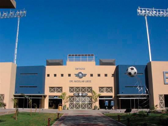 """Vue de l'extérieur """"Stade Dr. Nicolás Leoz"""". Photo tirée du site web du Club Libertad"""