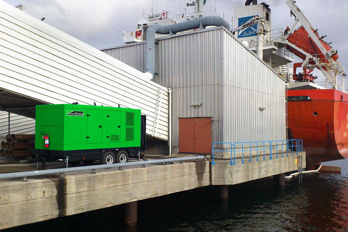 Groupe électrogène à l'un des ports de Stockholm