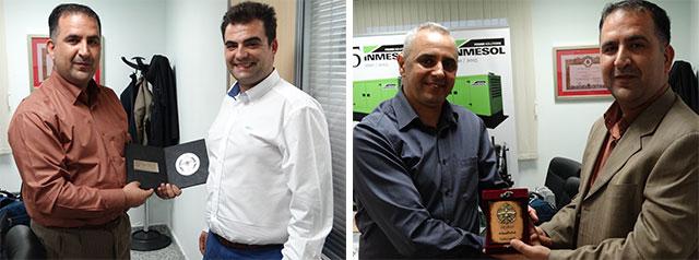 Mujeeb Khalaylah, Colonel en chef de la Direction Générale de Sécurité Publique de Jordanie avec Ramón Solano et Jalil Azdem