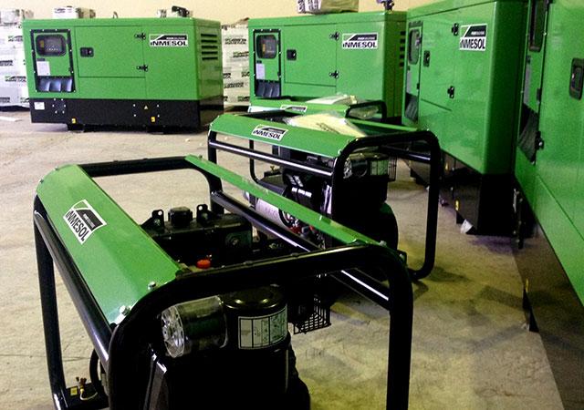 Générateurs de différentes puissances et gammes dans les installations de INMESOL SL