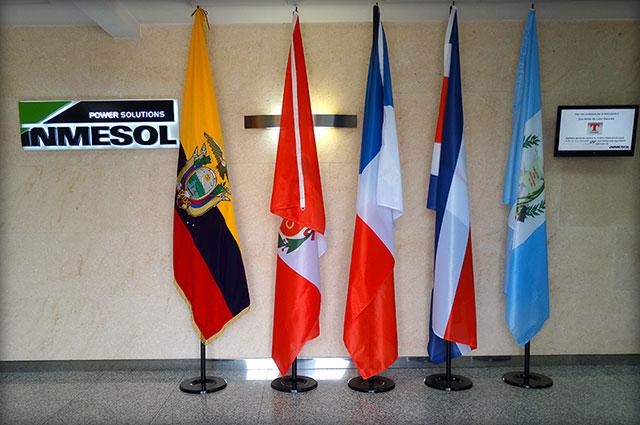 Drapeaux des pays visiteurs