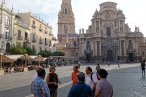 Visite de la Cathédrale de Murcia de style Gothique, Renaissance et Baroque.
