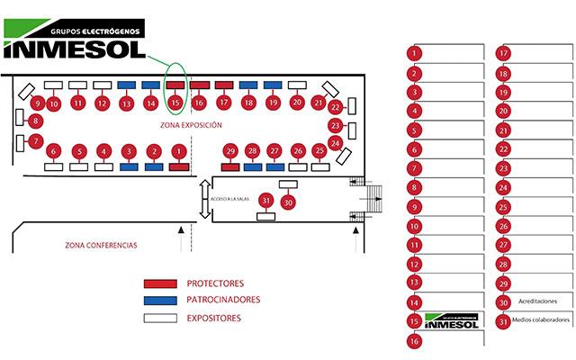 Plan de situation : Zone d'exposition et Zone de conférence