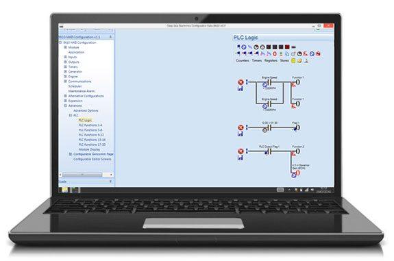 Exemple d'un schéma logique pour le dispositif PLC dans Config. Suite