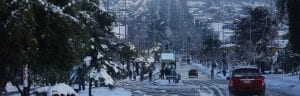 Santiago City sous la neige. - Photo : EPA