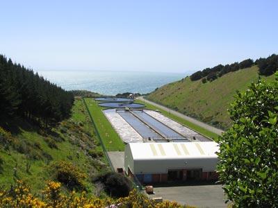 Usine de traitement des eaux usées de Porirua. Image provenant du site internet de la mairie de Porirua