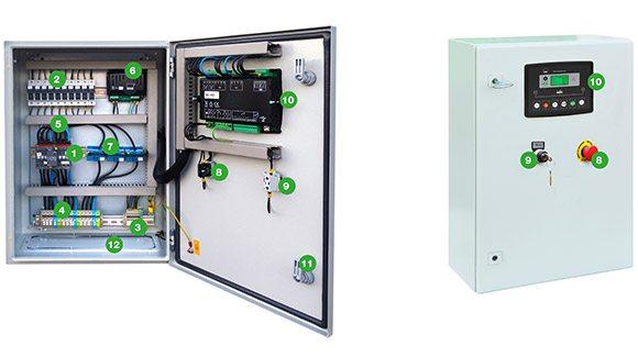 Armoire Inverseurs Automatique qui permet une utilisation alternative des groupes électrogènes